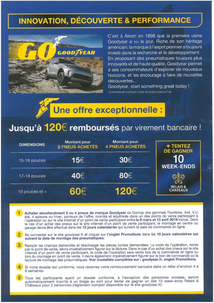 offre Goodyear