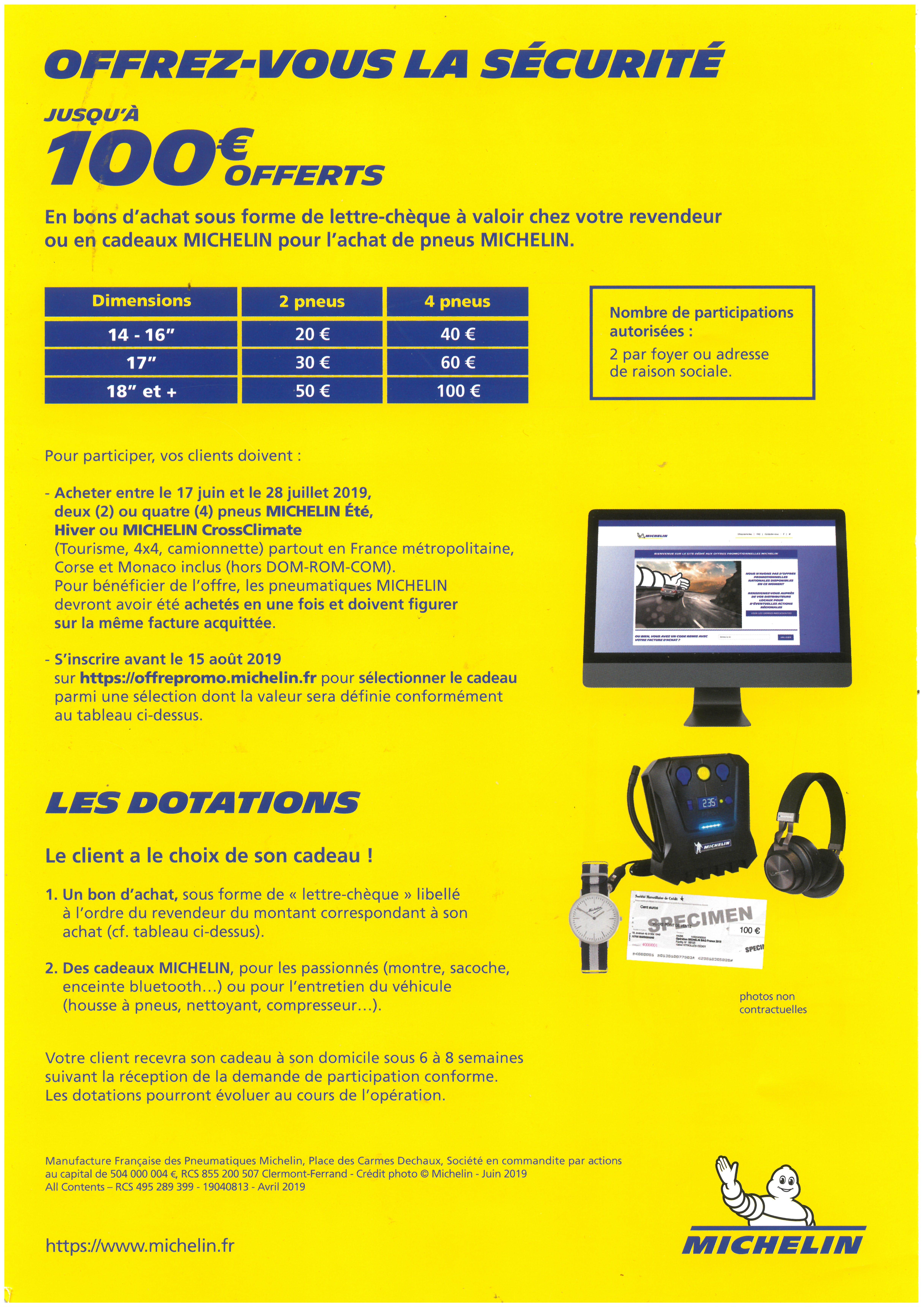 ODR :Opération Pneus Michelin été