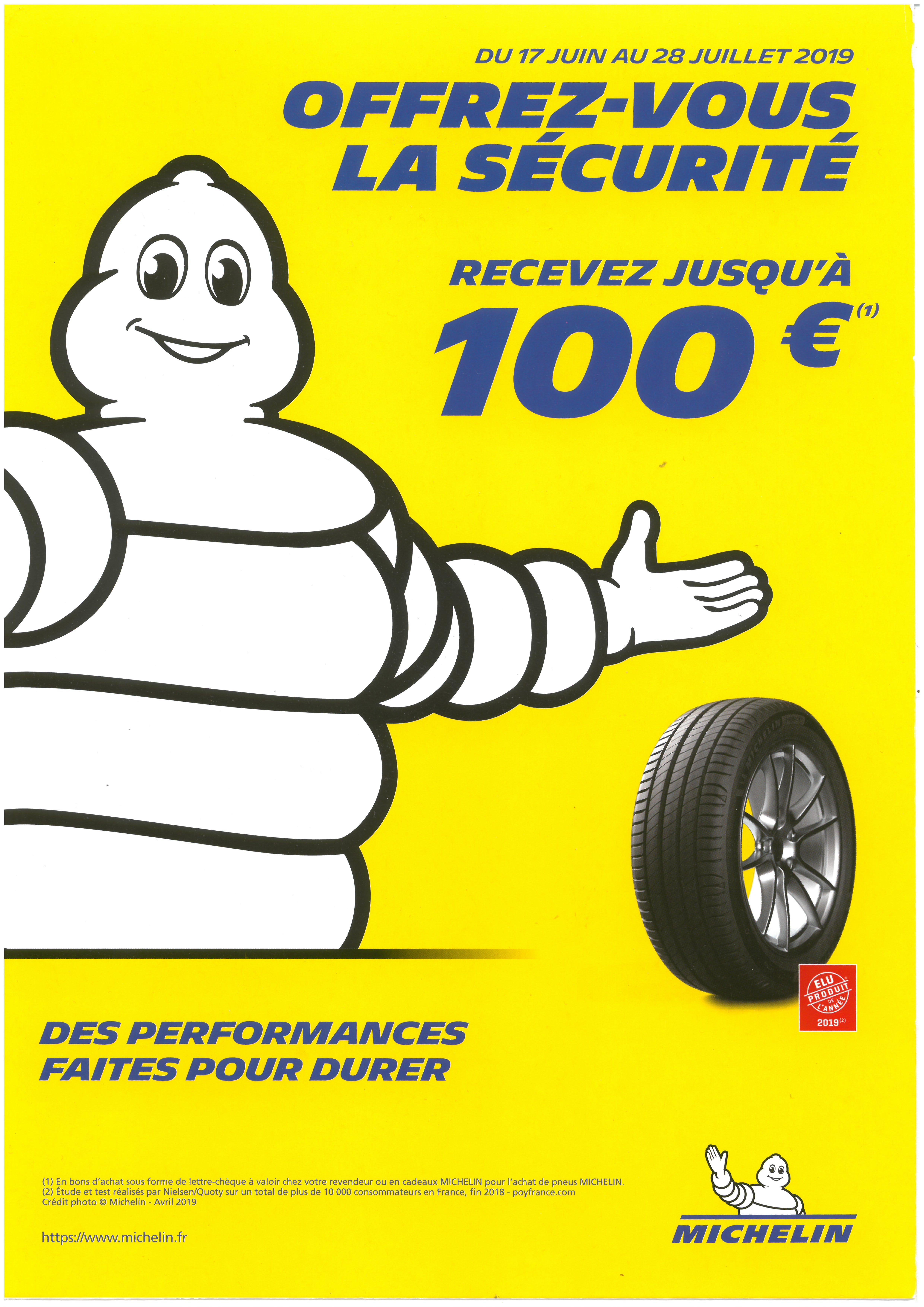 Opération Pneus Michelin été